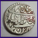 Jaipur State, Jai Singh III, Broad Flan, One Rupee Silver Coin