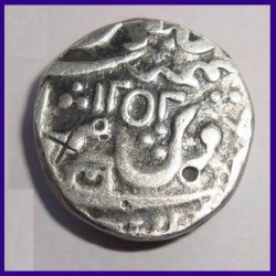 Hyderabad Feudatories Narayanpett, Dilshadabad, One Rupee Silver Coin