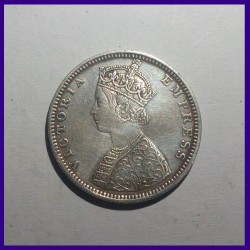 1881 Half Rupee Victoria Empress Silver Coin British India