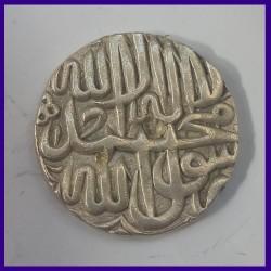 Akbar Rupee Large Flan & Large Legends - Jaunpur Mint AH978 - Mughal Emperor Silver Coin