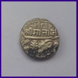 Jodhpur State Pali Mint, Queen Victoria / Maharaja Jaswant Singh II, One Rupee Silver Coin