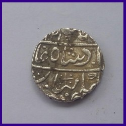 Jodhpur State, Nagaur Mint, Shah Alam II, One Rupee Silver Coin