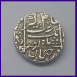 Aurangzeb Junagadh Mint Beautiful One Rupee Silver Coin, Mughal Emperor