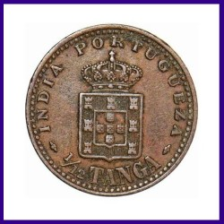 Indo Portuguese 1/12th Tanga Carlos  - 1903 Copper Coin