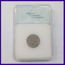 Mewar State Chitarkot Udaipur Certified 1/4 Rupee Silver Coin