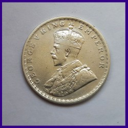 1911 One Rupee Silver Coin - George V King - British India