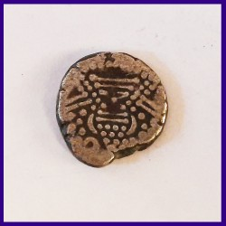 Indo - Sassanian Gadhiya Paisa Ancient India Silver Coin