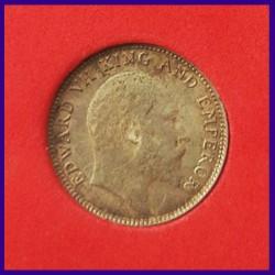 1906 Certified Quarter Rupee Silver Coin Edward VII King - British India