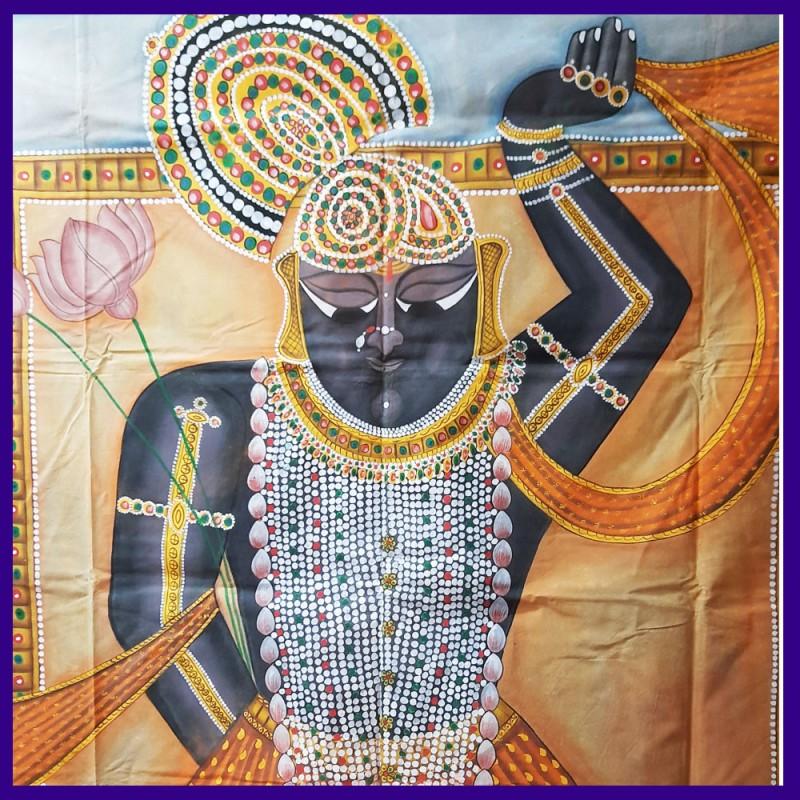 Original Full-Size Painting Of Shrinathji On Canvas