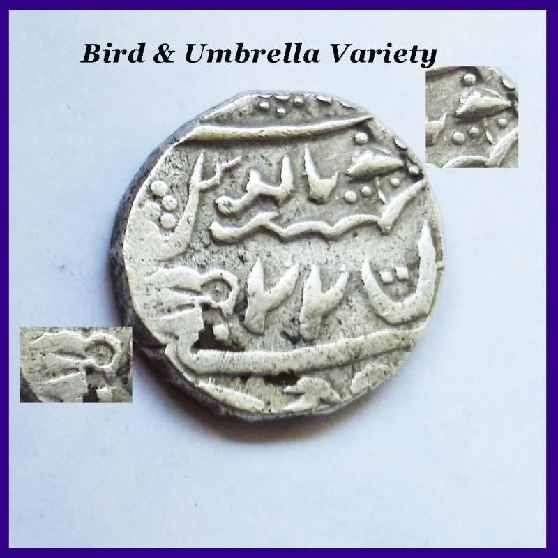 Jaisalmer State Bird & Umbrella Variety One Rupee Silver Coin