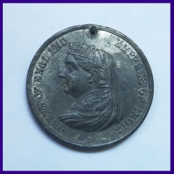 1887 Queen Victoria Golden Jubilee Medal Issued By The Borough Of Plymouth