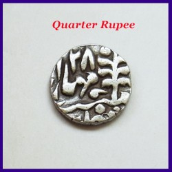 Set of 4 Jaipur State Sawai Jaipur Mint Silver Coins - One Rupee Half Rupee Quarter Rupee and 2 Annas