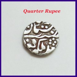 Set of 4 Jaipur State Sawai Jaipur Mint Silver Coins - One Rupee Half Rupee Quarter Rupee and 2 Annas