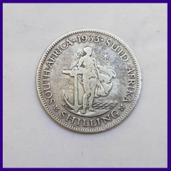 1933 South Africa Shilling Silver George V Coin