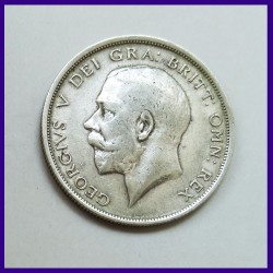 1916 Half Crown George V Silver Coin - Great Britain