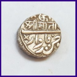 Jodhpur State Ki Mark Sojat Marwar Mint One Rupee Silver Coin, Queen Victoria & Takht Singh