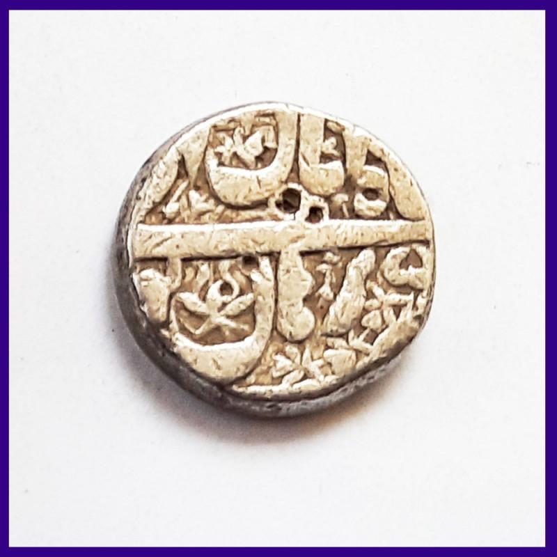 Akbar Burhanpur Mint One Rupee Silver Coin