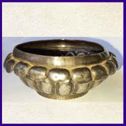 Antique Mughal Opium Bowl Silver - Early 19th Century