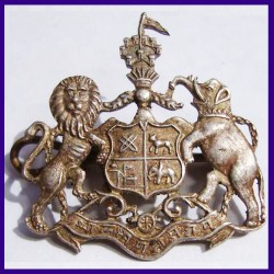 Bharatpur State Coat of Arms - Indian Antique