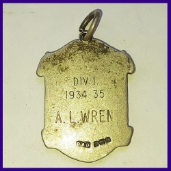 Lewisham Football League Silver Hallmarked Medal