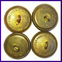 Set of 4 Air force Buttons 1975 Universal Buttons Aligarh