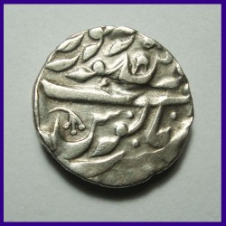 Jodhpur State Inverted Swastika One Rupee Silver Coin