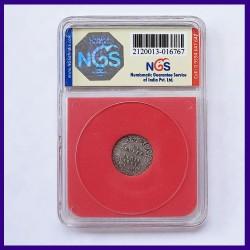 1901 Certified Quarter (1/4) Silver Rupee, Victoria Empress, British India Coin