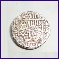 Shah Jahan, Surat Mint, One Rupee Silver Coin - Mughal Emperor India