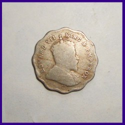1910 One Anna Edward VII King, British India Coinage