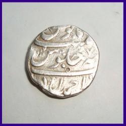 Aurangzeb Ahmedabad Mint One Rupee Silver Coin