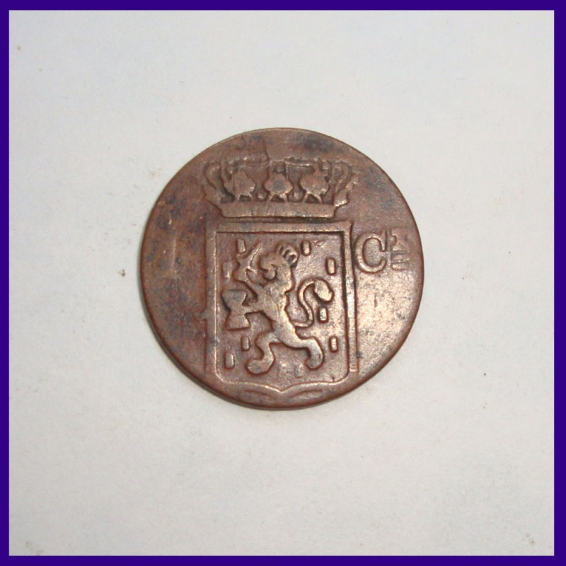 1 Duit / 1 Cent Netherlands East Indies Copper Coin