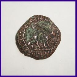 Indo-Scythians Azes II Hexachalkon Copper Coin