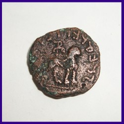 Indo-Scythians Azes II Hexachalkon Copper Coin