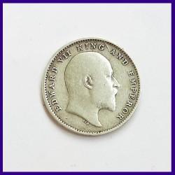 1903 Two Annas Edward VII King, British India Silver Coin