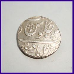 Bombay Presidency Ahmedabad Mint Akbar One Rupee Silver Coin