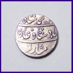 Muhammad Shah One Rupee Silver Coin - Mughal Coins