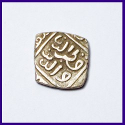 819 AH Delhi Sultan Qutab al din Mubarak Shah Square Billon Jital