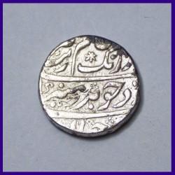 Aurangzeb Golkunda Mint One Rupee Silver Coin