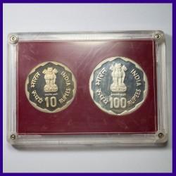 1980 Proof Set of 2 Coins Rural Women's Advancement