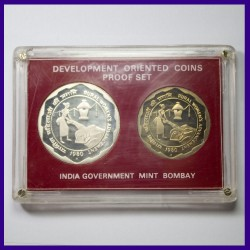 1980 Proof Set of 2 Coins Rural Women's Advancement