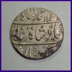 Muhammad Shah, Muhammdabad Banaras, One Rupee Silver Coin, Mughal Coinage