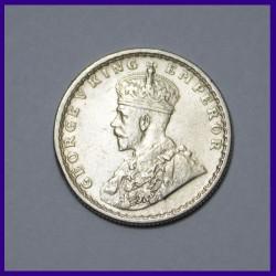 1929 Half Rupee George V British India Silver Coin