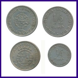 Set of 4 Portuguese India 1947 & 1958 Coins