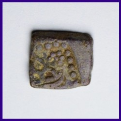 Western Kshatrapas Lead Coin Bull On Obverse