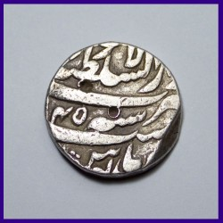 Aurangzeb Lahore Mint One Rupee Silver Coin, Mughal Emperor