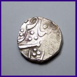 Baroda Malhar Rao Rupee Silver Coin Ma Ga In Nagari