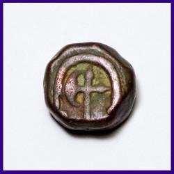 Maratha Paisa Axe Mintmark Muhiabad Poona Mint Copper Coin