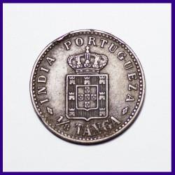 Portuguese 1/8th Tanga Carlos Coin