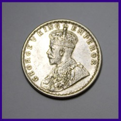 1919 One Rupee George V British India Silver Coin