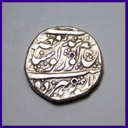 1872 Sikh One Rupee - Ranjit Singh - Silver Coin